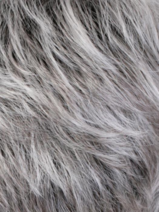 CHROMERT1B | Gray and White w/25% Medium Brown Blend & Off Black Roots