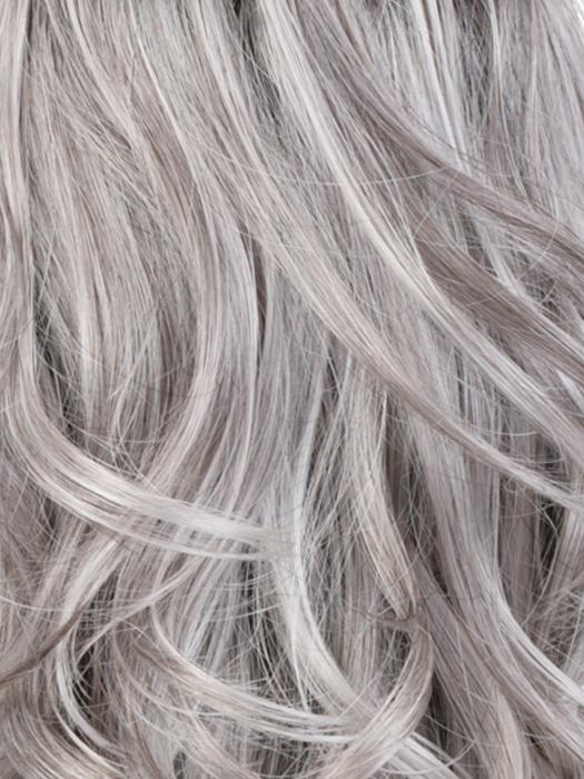 CHROMERT1B | Gray and White with 25% Medium Brown Blend and Off-Black Roots