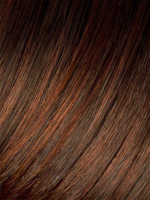 CINNAMON ROOTED | Medium Brown, Bright Copper Red, and Auburn blend with Dark Roots