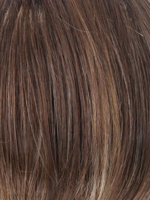 CKISSRT4 | Golden Brown with Copper Blonde Highlights and Dark Brown Roots