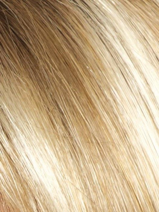 CREAMY TOFFEE R | Rooted Dark with Light Platinum Blonde and Light Honey Blonde evenly blended