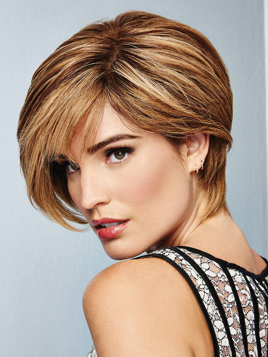Shout out to short hair in this lavish look certified remy human hair wig