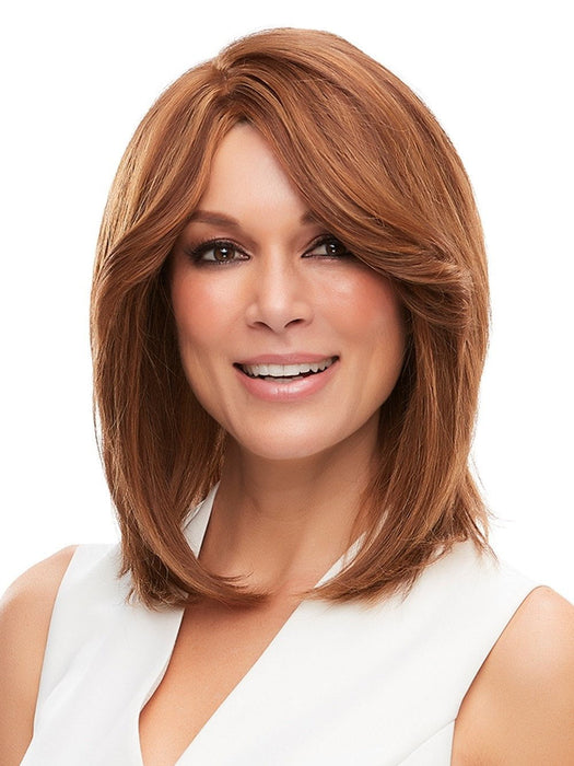 CARA by Jon Renau in 6F27 | Dark Brown with Natural Red-Gold Blonde Highlights and Tips