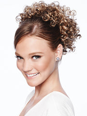 CHEER DANCE CURLS by POP by hairdo in R1416T BUTTERED TOAST | Dark Ash Blonde with Golden Blonde Tips