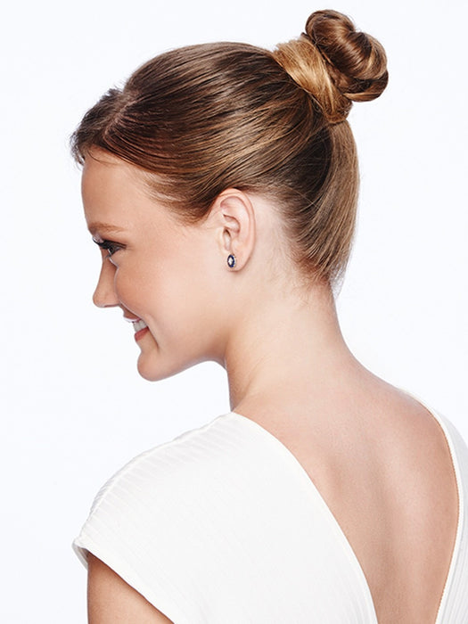 Before you get started pull your hair up in a bun!