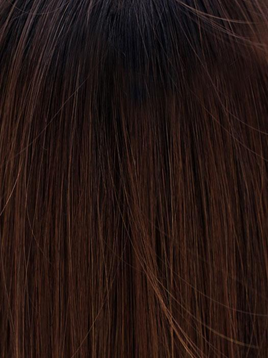CHOCOLATE WITH CARAMEL | Medium Brown, Light Caramel Brown Highlights and Dark Brown Roots