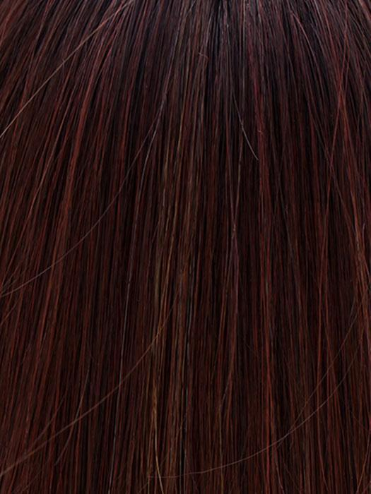 COLA WITH CHERRY | Medium Dark Brown/Medium and Dark Auburn Highlights and Dark Brown Roots