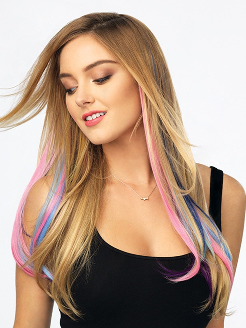COLOR STRIP CLIP IN EXTENSIONS by POP by Hairdo