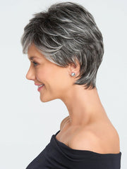 A short, boy cut long on style and fullness