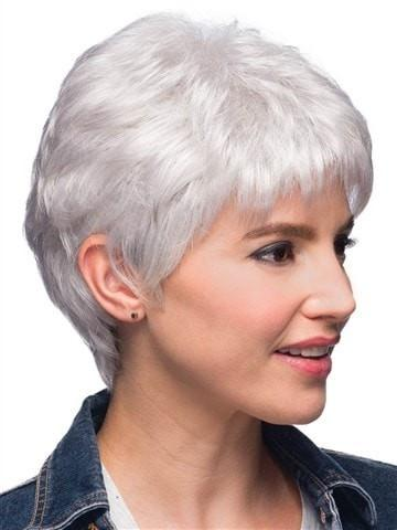 A short soft pixie cut with tapered backs and sides