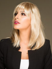 Ready to wear synthetic wig with monofilament part