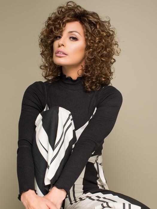 The Jamila Plus Wig by Ellen Wille is lavish with volume, body and beautiful curls!