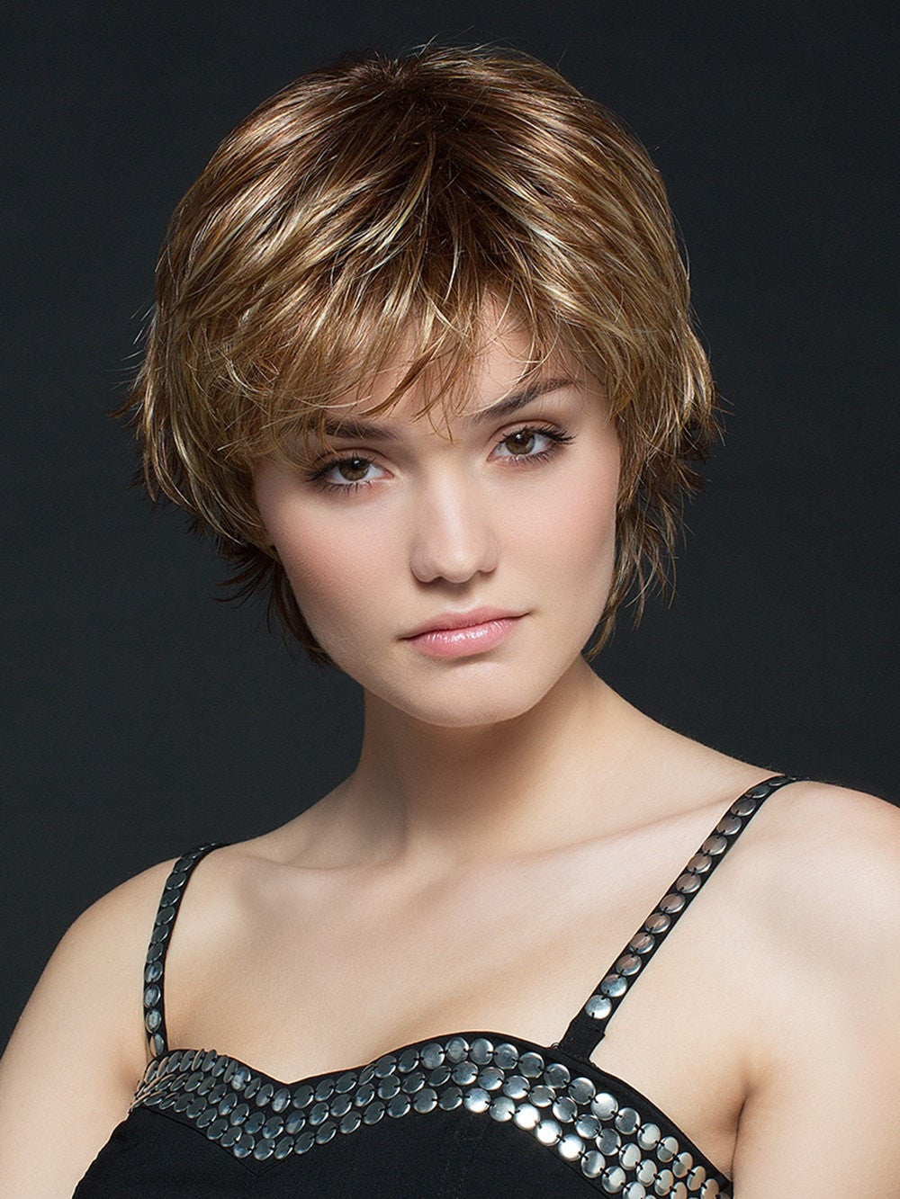Short Wig with Monofilament Crown with Open Sides