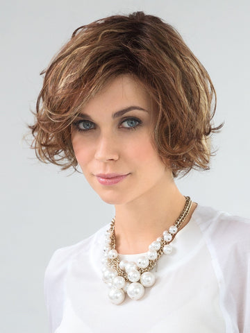 MOVIE by Ellen Wille in TOBACCO-MIX | Medium Brown base with Light Golden Blonde highlights and Light Auburn lowlights