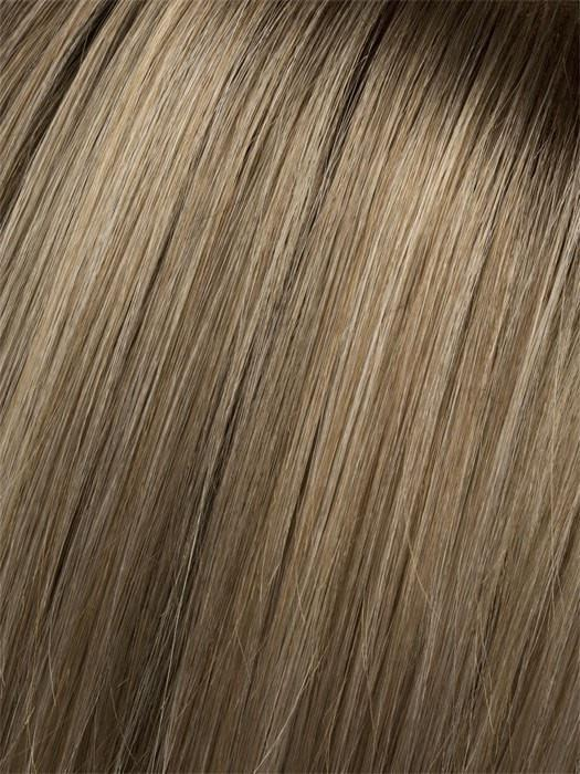 Champagne-Rooted 22.26.20 | Light Beige Blonde, Medium Honey Blonde, and Platinum Blonde blend with Dark Roots