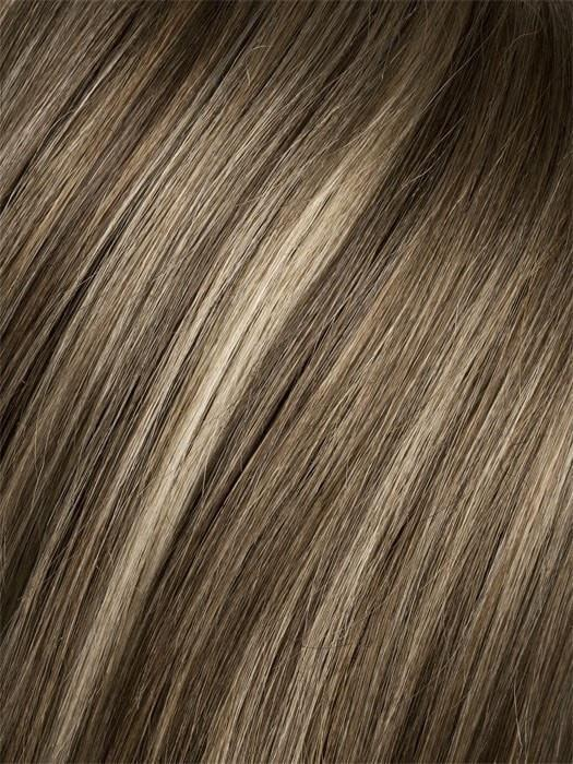 Color Dark-Sand-Rooted = Light Brown base with Lighest Ash Brown and Medium Honey Blonde blend