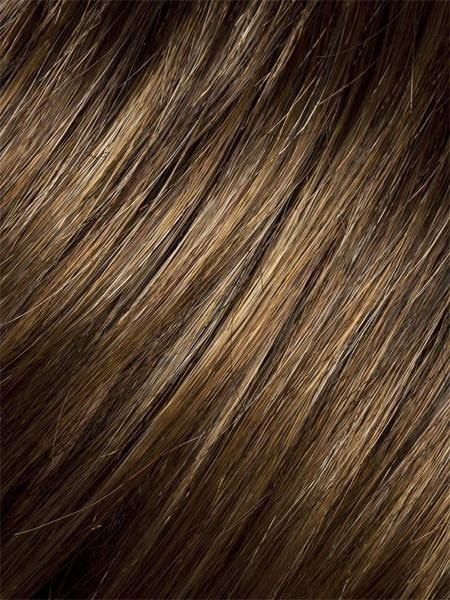 HAZELNUT-MIX | Medium Brown base with  Medium Reddish Brown and Copper Red highlights and Dark Roots