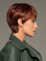 Layers on the top and sides are longer and texturized to create a light, feathered look. Use a styling creme to amplify the layers
