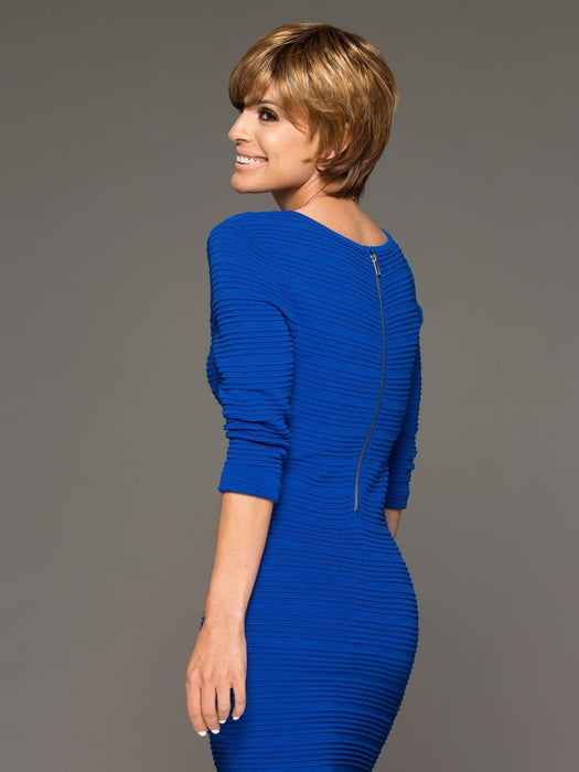 ELLE by Envy is a mid-length boy cut, a short wig that is contemporary, fashionable and versatility in styling