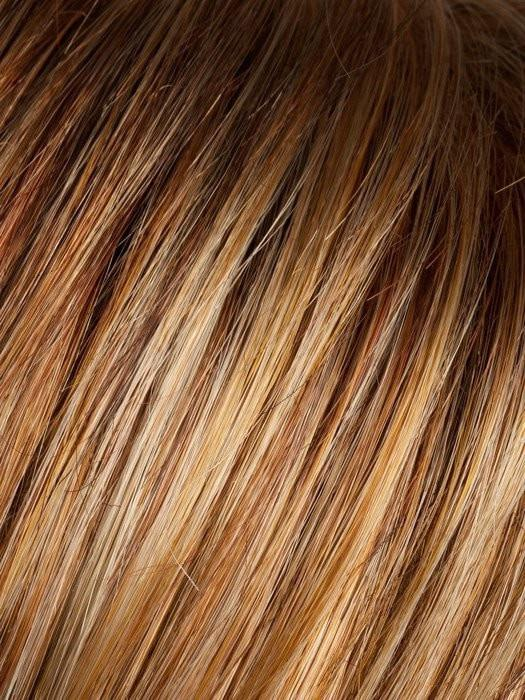 COGNAC ROOTED | Medium Copper Red, Copper Red, and Butterscotch Blonde Highlights