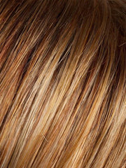 MANGO ROOTED | Medium Copper Red, Copper Red, and Butterscotch Blonde Highlights