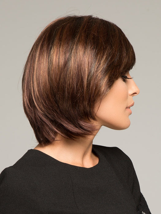 HALEY by ENVY in CINNAMON RAISIN | Medium Brown with Auburn and Cinnamon highlights