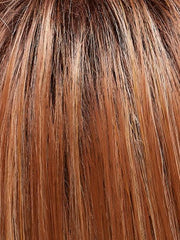 FS26/31S6 - Salted Caramel - Medium Natural Red Brown with Red Gold Blonde Bold Highlights, Shaded with Brown