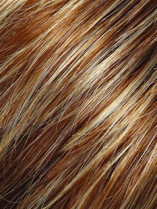 FS26/31  | Medium Red-Gold Brown and Light Gold Blonde Blend with LT Gold Blonde Bold Highlights