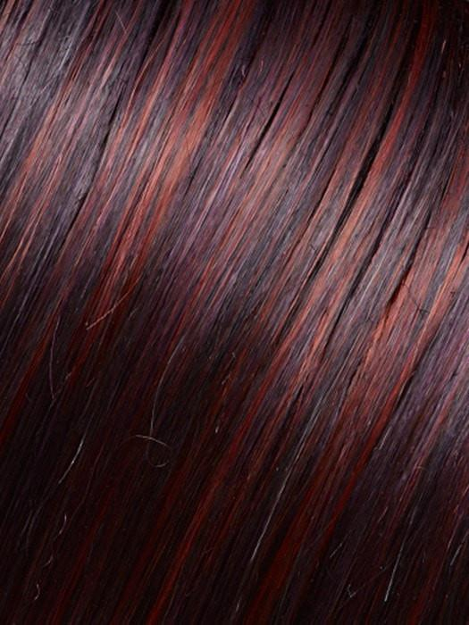 FS2V/31V - Chocolate Cherry - Black/Brown Violet, Medium Red/Violet Blend with Red/Violet Bold Highlights
