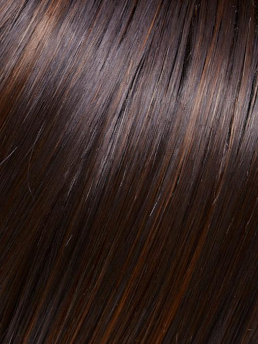 FS4/33/30A MIDNIGHT COCOA | Dark Brown, Medium Red, Medium Natural Red Blonde-Brown Blend with Medium Natural Red Blonde-Brown Blend Bold Highlights
