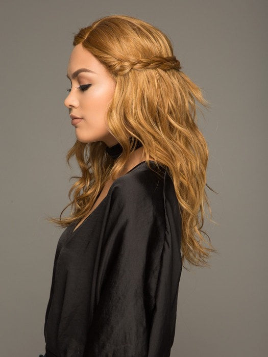 Long, wavy and braided to create a stylish look in seconds