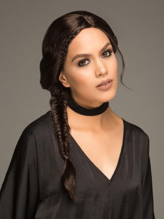 The Philo Side Braid by Forever Young is a braided wig with a center part and lace front.