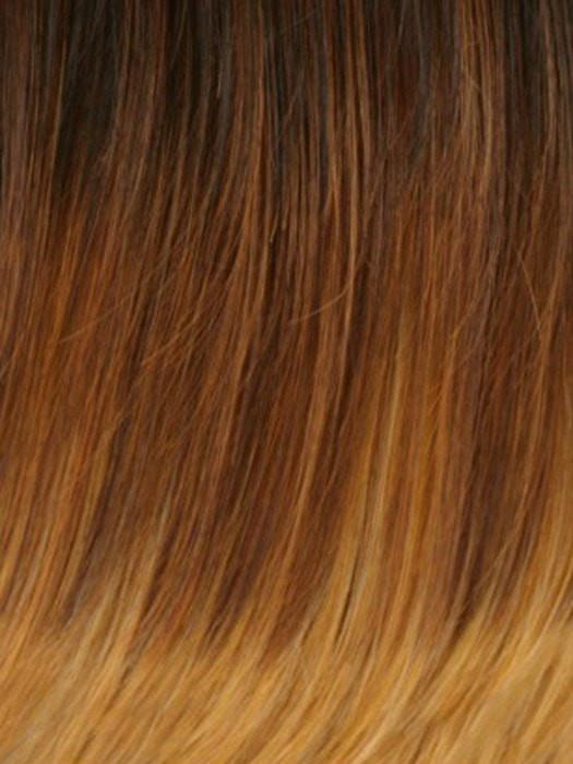GM236 | Gradual Mix OMBRE Color. Reddish Brown Top, Reddish Auburn Middle and Golden Platinum Blonde Bottom