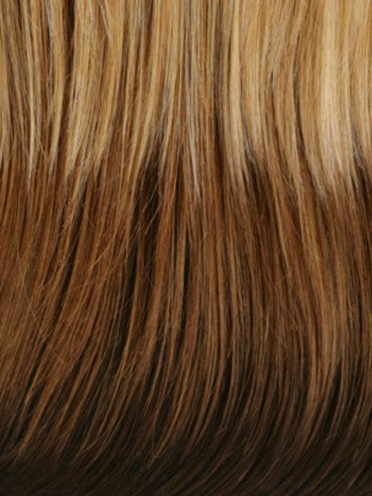 GM632 | Gradual Mix OMBRE Color. Reddish Brown Top, Reddish Auburn Middle, and Holden Platinum Blonde Bottom