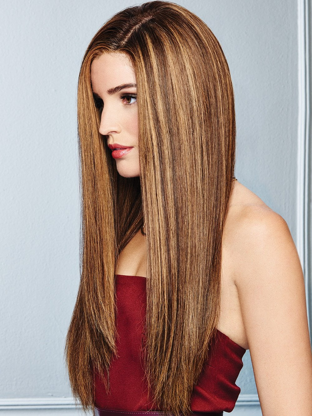 Long barely there layers add flow and movement to this superwoman length