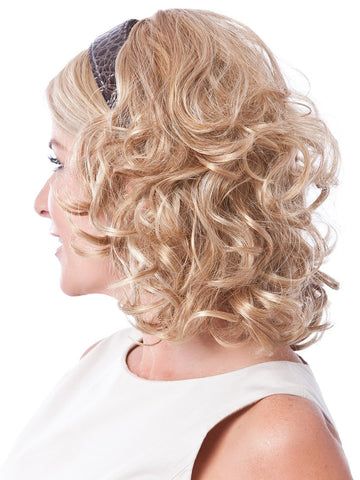 Full Length Headband Attached Curly Hair Fall Extension that gives you Longer & Fuller Hair in an Instant