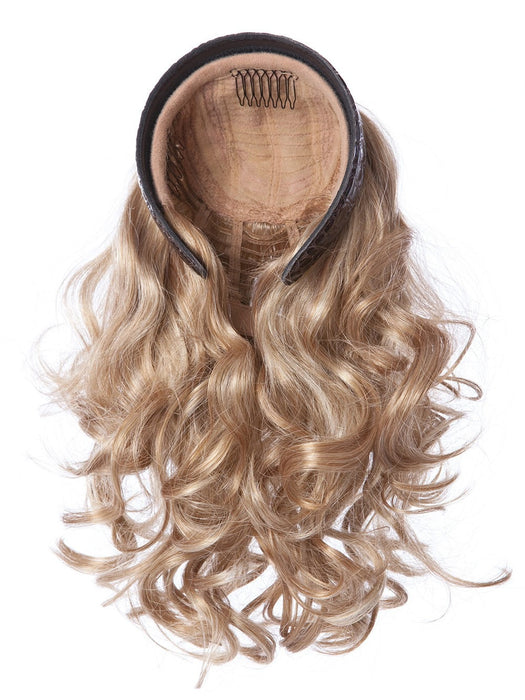 "14"" Curly Hair Full Length Headband Attached Curly Hair Fall Extension"