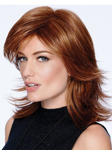 MODERN FLIP is a mid-length shoulder shag hair style!