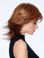 MODERN FLIP by Haidro in R3025S+ GLAZED CINNAMON | Medium Reddish Brown With Ginger Highlights On Top