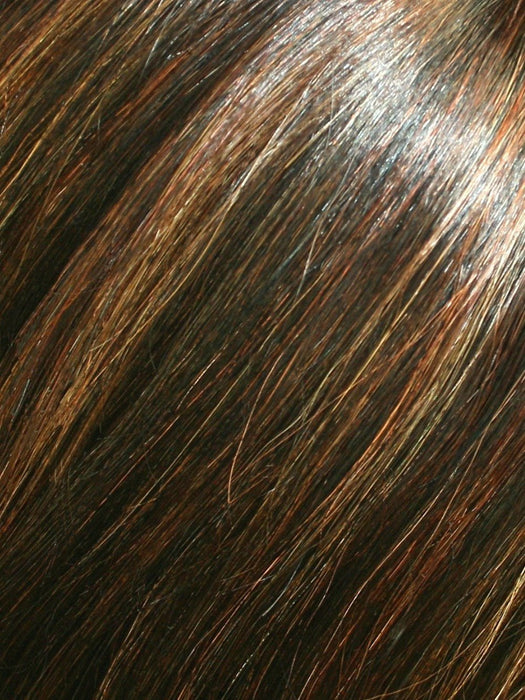 FS6/30/27 TOFFEE TRUFFLE | Brown, Medium Red-Gold, Medium Red-Gold Blonde Blend with Medium Gold Blonde Bold Highlights