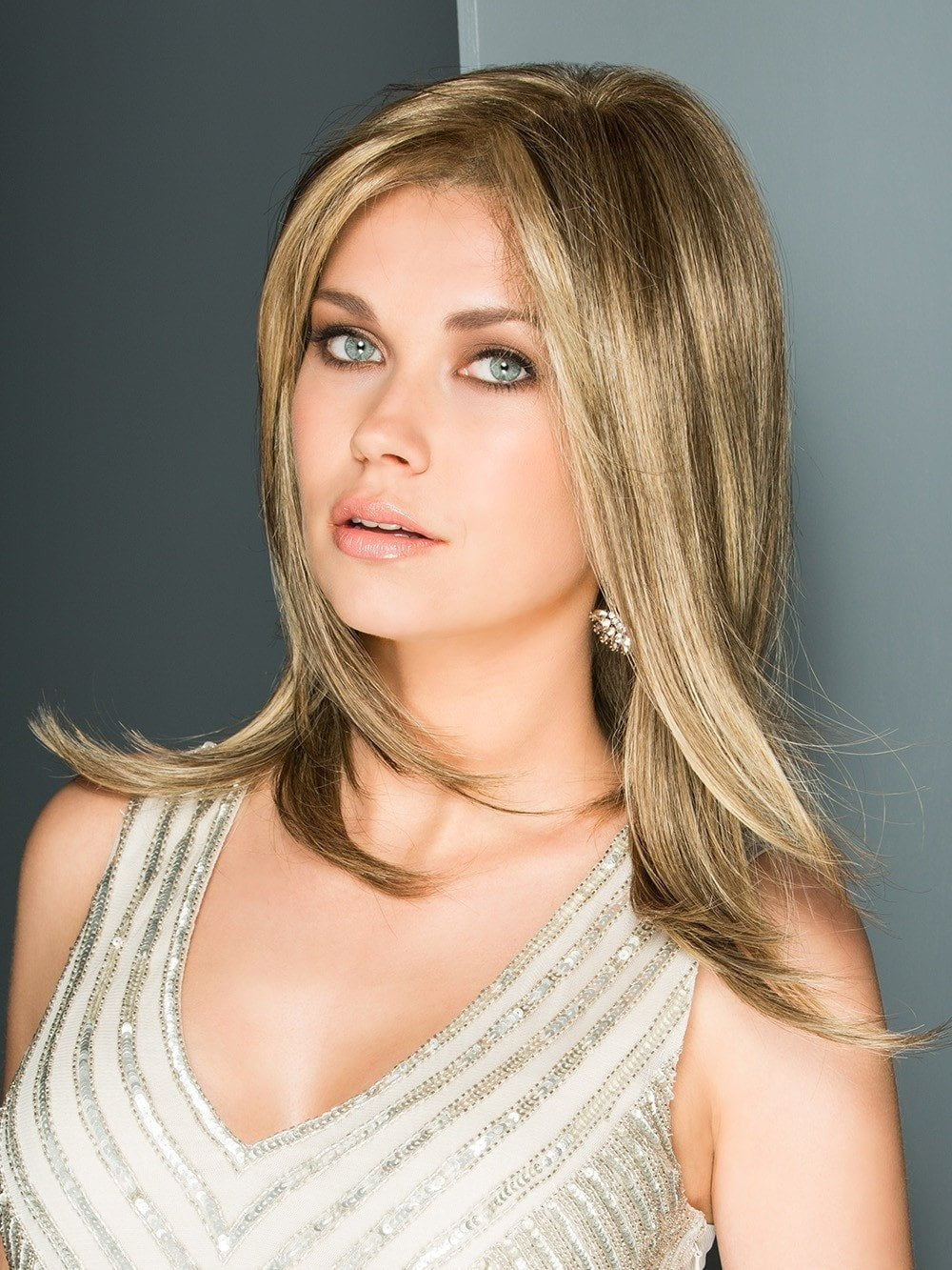 Glamorous long hair style with light wispy layers