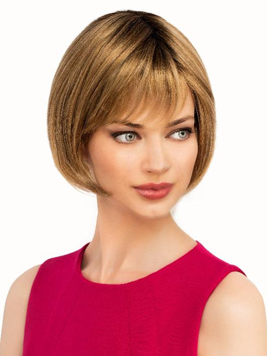 100% hand tied cap, a chic feathered layered bob wig