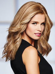 Style the 100% human hair straight or with beach waves.