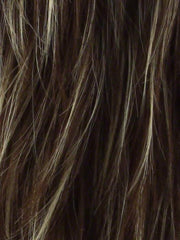 ICED MOCHA R | Rooted Dark with Medium Brown blended with Light Blonde highlights