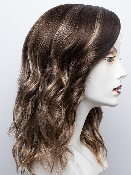 ICED-MOCHA | Light Chestnut Brown Base with Light Brown, Ash Blonde, and Golden Blonde Highlights