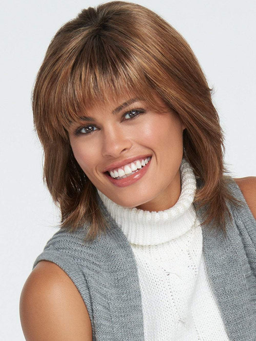 INFATUATION ELITE Wig by RAQUEL WELCH in SS11/29 SHADED NUTMEG | Warm Medium Brown Evenly Blended with Ginger Blonde and Dark Roots