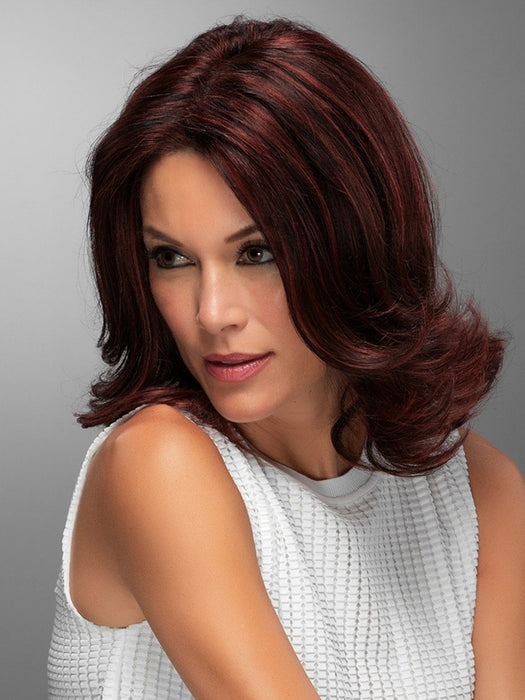 Dark Red Human Hair Wig CARRIE by Jon Renau in FS2V/31V