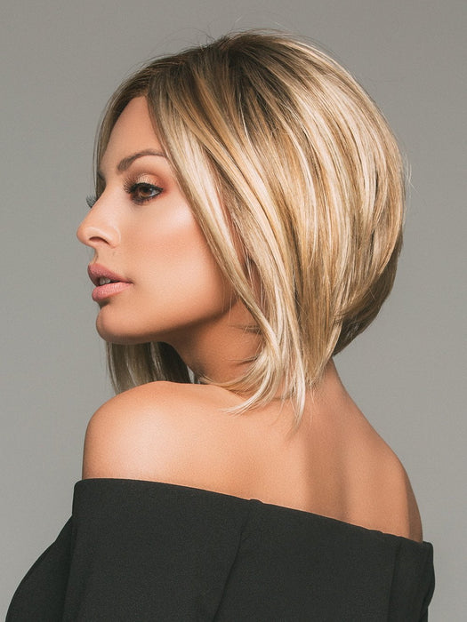 MENA by JON RENAU in 12FS8 SHADED PRALINE | Light Gold Brown, Light Natural Gold Blonde and Pale Natural Gold-Blonde Blend, Shaded with Medium Brown