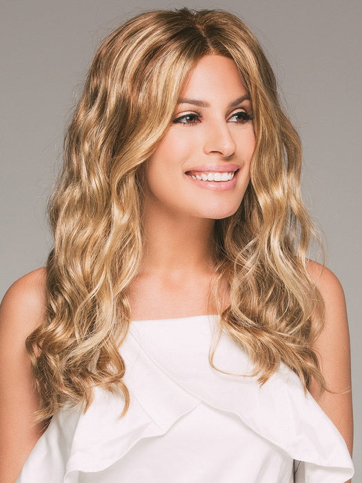SARAH by JON RENAU in 14/26S10 SHADED PRALINES N' CRÈME | Medium Natural-Ash Blonde and Medium Red-Gold Blonde Blend, Shaded with Light Brown