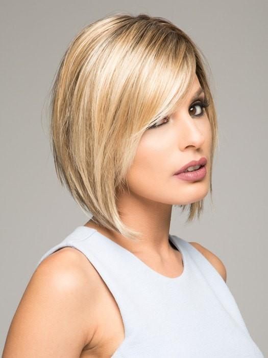 VICTORIA by Jon Renau in 12FS8 SHADED PRALINE| Medium Natural Gold Blonde, Light Gold Blonde, Pale Natural Blonde Blend, Shaded with Dark Brown